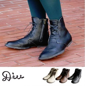 A/W Oil Leather Short Boots Genuine Leather Ladies Shoe Shoes
