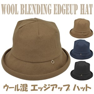 2018 A/W Wool Edge Hat Ladies Adjustment Lining