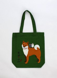 A4 size Tote Bag Inside Pocket Attached Friendly Shibatasan Green