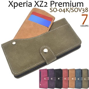 Smartphone Case Xperia XZ Premium Ride Card Pocket Notebook Type Case