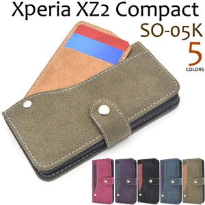 Smartphone Case Xperia XZ Ride Card Pocket Notebook Type Case