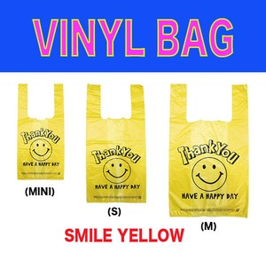 Vinyl Bag New Pattern Shopping Bag Garbage bag Shop SMILE Yellow