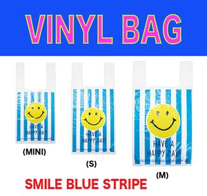 Vinyl Bag New Pattern Shopping Bag Garbage bag Shop SMILE Stripe
