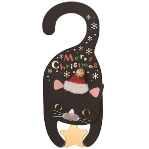 Christmas Card Clothes Hanger Card Black cat