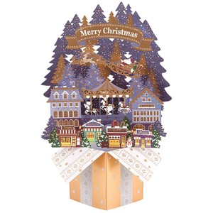 Christmas Card Box-shaped Pop Card