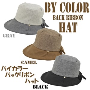 2018 A/W Bi-Color Bag Ribbon Hat Ladies Adjustment Lining