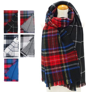 Clearance Sale A/W Stole Reversible Checkered Stole
