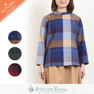 Big Gigging Big Checkered Roll Color Blouse