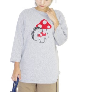 Baseball T-shirt Mushrooms Hedgehog