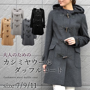 Cashmere Wool Coat Duffle Coat Line Casual 2018 A/W