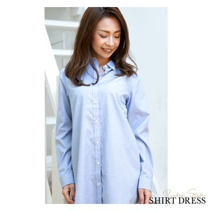 2018 A/W Shirt One-piece Dress Stripe Ladies