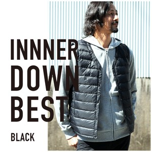 2018 A/W Inner Down Vest Vest Light-Weight Button Nylon Men's