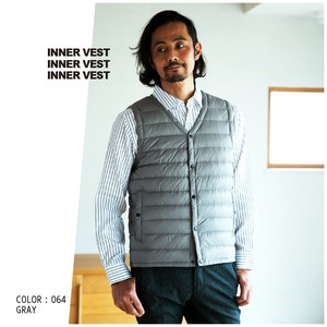 2018 A/W Inner Down Vest Button Nylon Men's
