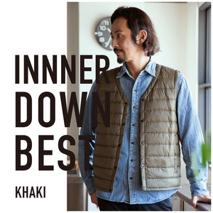 2018 A/W Inner Down Vest Down Light-Weight Button Nylon Men's