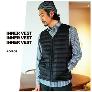 2018 A/W Inner Down Vest Fastener Nylon Men's