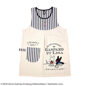 2018 A/W Lisa & Gaspard Apron Black Stripe