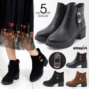 2018 A/W Heel Belt Design Short Boots