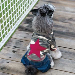 Pet Product Dog Camouflage Star Attached Sweatshirt Pet Pet
