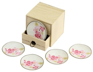 Mino Ware Gift Kirara Mini Dish Drawer Wooden Box