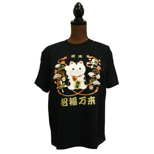 Good Luck Fortune T-shirt Good Luck Beckoning cat