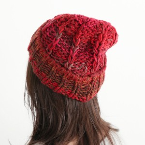 Ladies Men's Mix Color Hand Knitting Knitted Hat