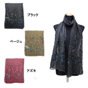2018 A/W Stole Polyester Material A/W Stole Floral Pattern Embroidery