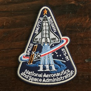 America Airlines Space Patch Applique Space Shuttle