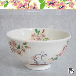 Rice Bowl Rabbit Mino Ware