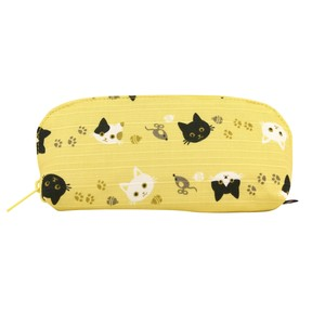 Weather Eyeglass Case Cat cat Yellow