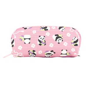 Weather Eyeglass Case Temari Panda Bear Pink