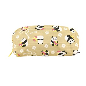 Weather Eyeglass Case Temari Panda Bear Beige