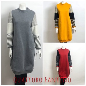 2018 A/W New Color 2 Colors Raised Back Material Switch Tunic