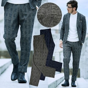 AL Pants Checkered Wool Pants Topic Suits