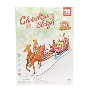 3D Craft model クリスマスシリーズ Christmas Sleigh(LEDライト付) P681h