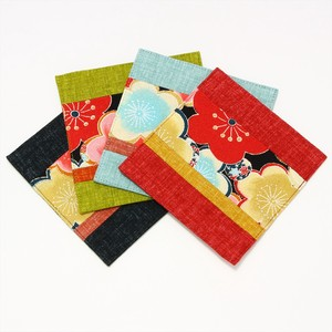 Flower Color Coaster Table Fabric Flower Motif Japanese Pattern
