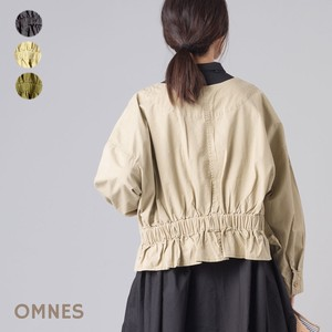 High Density Cotton Twill Behind Gather Frill Jacket