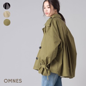 High Density Cotton Twill Flare Trench Coat 2018 A/W