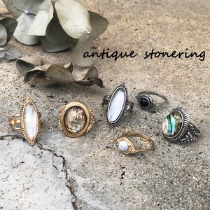 Antique 3-unit Set Stone Ring Ring Ring Set Ring 2018 A/W