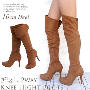 Knee-high Long Boots Beautiful Legs Heel Stretch