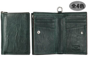 Men's Leather Clamshell Wallet