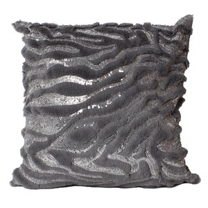Cushion Cover Square Gray Fur