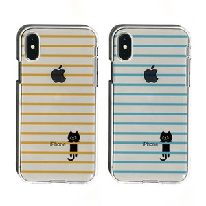 iPhone soft Clear Case Border cat
