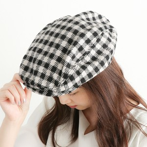 Ladies Men's Gingham Check Flat cap