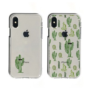 iPhone soft Clear Case Cactus