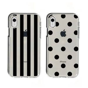 Smartphone Cases soft Clear Case Stripe Dot
