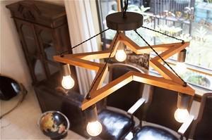 【2color】(電球なし)5BULB WOOD STAR LIGHT_M_5バルブウッドスターライト