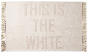 【2color】THIS IS THE W/B FRINGE RUG 90×130_ディスイズザフリンジラグ