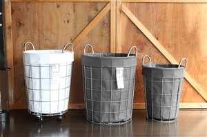 【2color】WIRE ARTS & PRO.laundry ROUND BASKET_48L_ランドリーラウンドバスケット