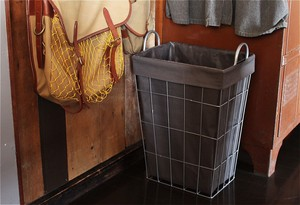 【2color】WIRE ARTS & PRO.laundry SQUARE BASKET_34L_ランドリースクエアバスケット