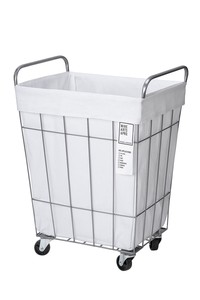 【4color】WIRE ARTS & PRO.laundry SQUARE BASKET WITH CASTER_45L_スクエアバスケットウィズキャスター